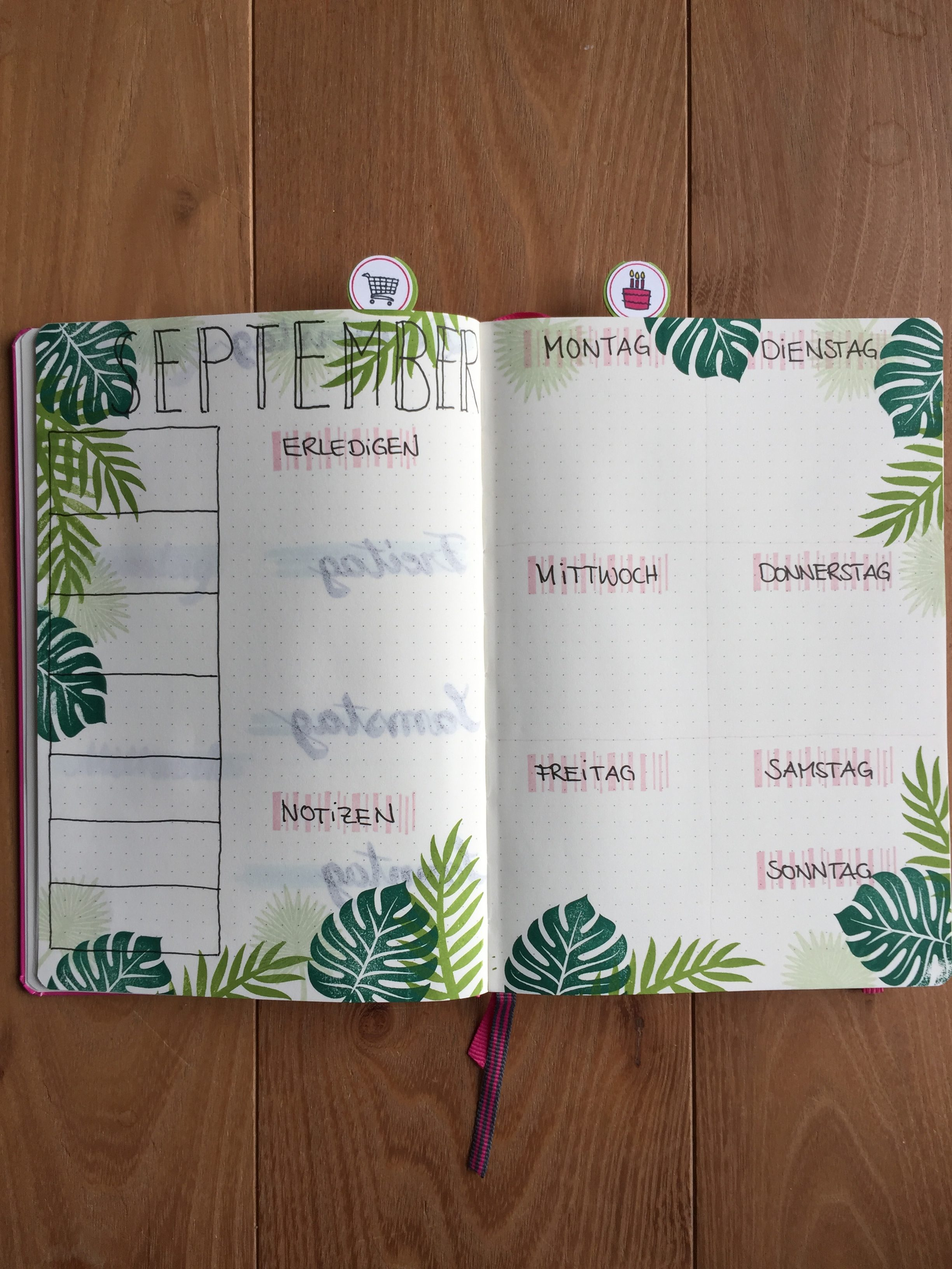 Weekly Spread Weekly Log Bujo Bullet Journal Stampin Up Tropenflair